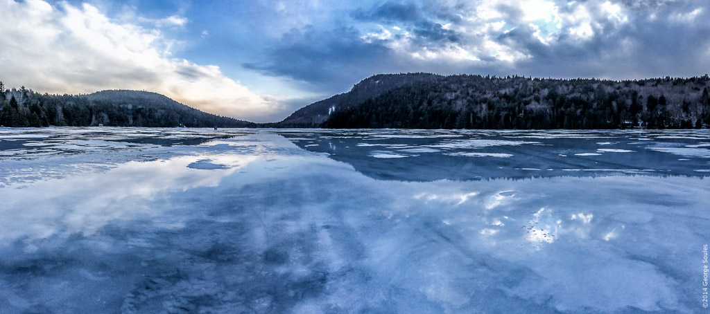 Echo Lake Frozen Acadia National Park