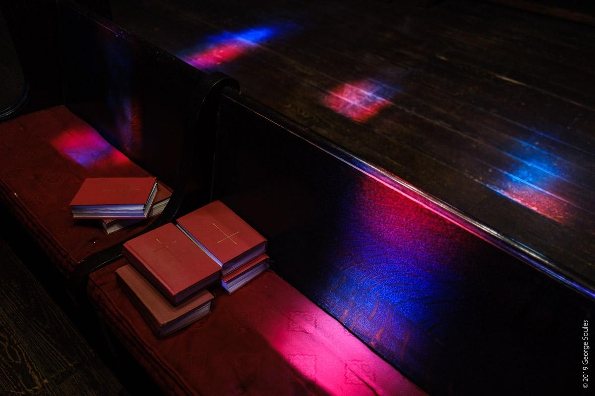Window light on bibles