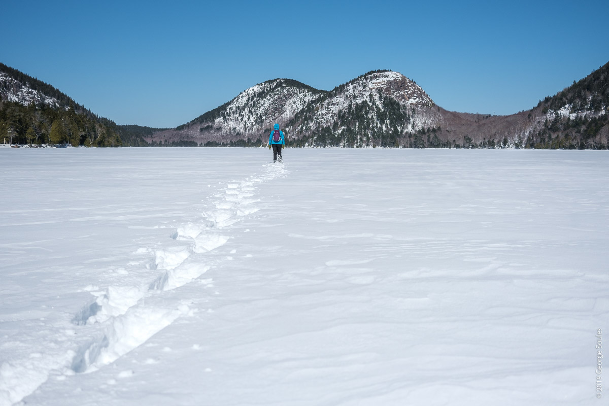 Jordan Pond Frozen