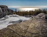 Cadillac Mountain South Ridge Trail in Winter