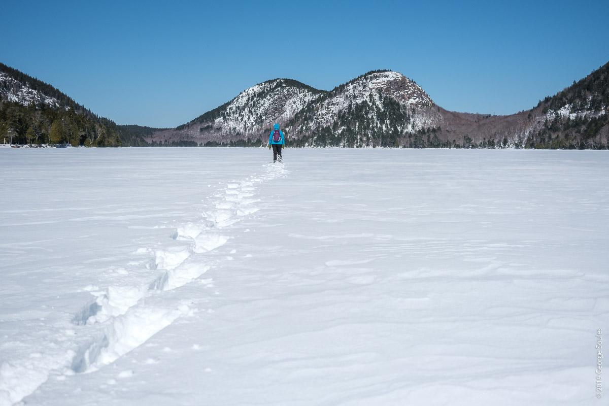 Jordan Pond Frozen